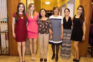 Doria Fajardo, Lupita Fajardo, Guadalupe García, Isolda de Jiménez, Nancy Fajardo e Isolda Jiménez