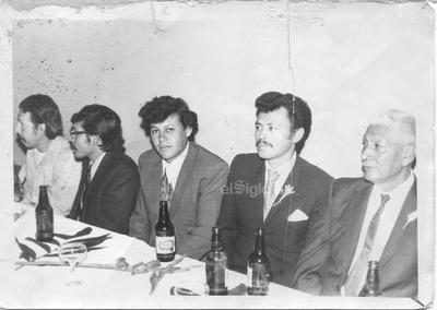 Pedro, Gerardo Rivas, Héctor González, Julio Velázquez y Juan de Dios hace algunos ayeres.