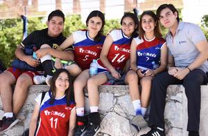 13052019 JUEGOS LASALLISTAS.  Luis, Grecia, Karla, Ana, Edgar y Miriam.