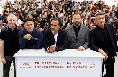 Alejandro González Iñárritu  junto a los directores de cine Robin Campillo, Enki Bilal , Yorgos Lanthimos  y Pawel Pawlikowski.