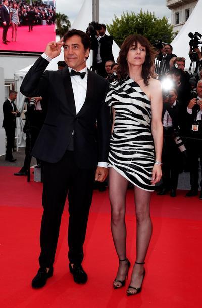 El actor español Javier Bardem  y la actriz francesa Charlotte Gainsbourg.
