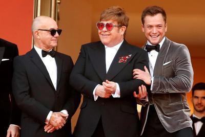 Elton John llega al estreno de Rocketman en Cannes