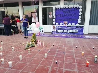 Nosotros decidimos convocar a la sociedad civil, ya que el feminicidio infantil de Milagros es el segundo que se perpetúa en Matamoros, dijo Valeria López, integrante de la colectiva activistas y feministas.