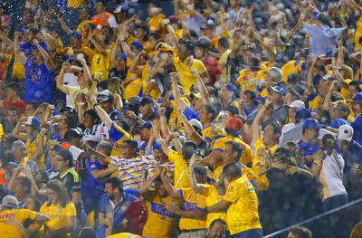 _MG_1868  MONTERREY, MEXICO - MAYO 18: Aficion del Tigres  durante el juego de vuelta de la semifinal del Torneo Clausura 2019 de la Liga Bancomer MX en el estadio Universitario el 18 de Mayo de 2019 en Monterrey, Mexico (Foto: Alfredo Lopez/JAM MEDIA)