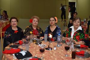 20052019 EN FESTEJO.  Luz Elena, Elba, Yolanda y Ome.