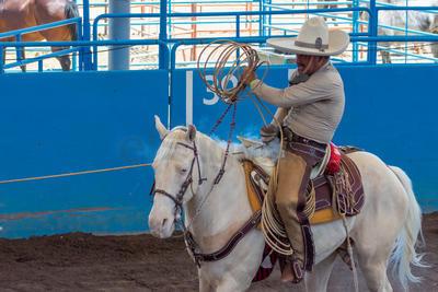 En la mañana, Hacienda de Triana, de Zacatecas, dio muestras de su talento en cada una de las suertes.