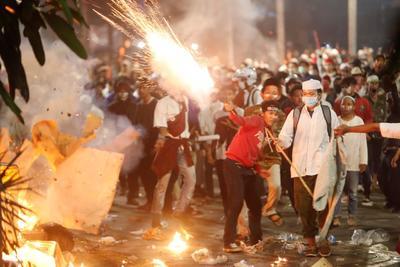 Ocurren tras el anuncio de la reelección del mandatario Joko Widodo.