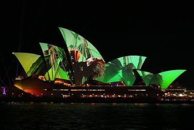 Inauguran el Festival de luces Vivid de Sídney