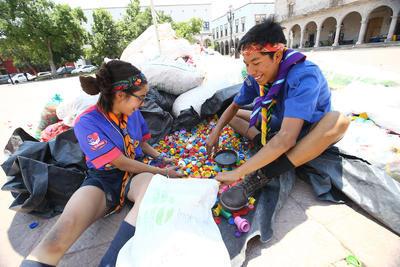 Los scouts iniicaron la actividad  de recolección desde noviembre del año pasado.