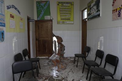 Dejó 26 centros de salud con daños en sus estructuras.
