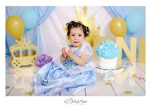 26052019 Chelsea Gutiérrez Barba cumplió su primer año de vida, por lo que le hicieron una fiesta con la temática de Cenicienta.- Click & fun!