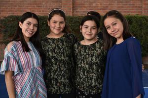 29052019 DíA DEL ESTUDIANTE.  Ximena, Natalia, Carolina y Ana Gabriela.