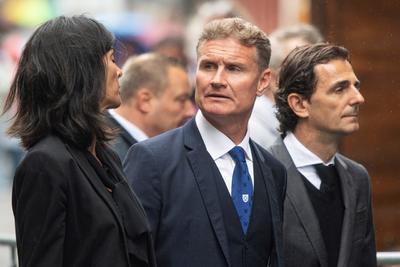 El expiloto escocés de Fórmula Uno David Coutlthard  y su esposa Karen Minier.
