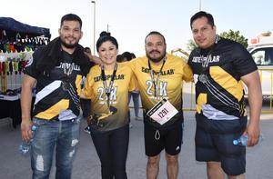 30052019 PARTICIPAN EN CARRERA.  Alan Zamora, Saira García, Rodolfo Reza e Israel Carrillo.