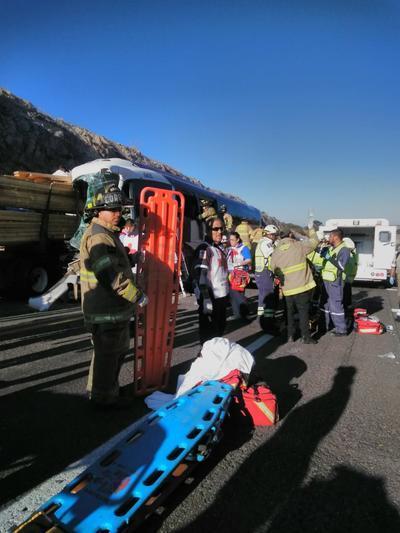 Algunos de los lesionados fueron trasladados a recibir atención médica por el helicóptero del Gobierno del Estado de Durango.