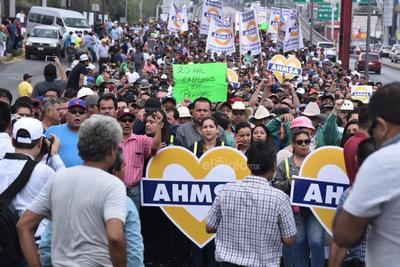 Para esta marcha en Monclova, se tiene la asistencia alcaldes y ciudadanos de al menos 10 municipios, entre ellos Sabinas, San Juan de Sabinas, Múzquiz, Juárez, Progreso y Piedras Negras.
