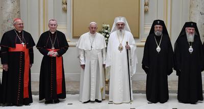 Se reunió con la Iglesia ortodoxa.