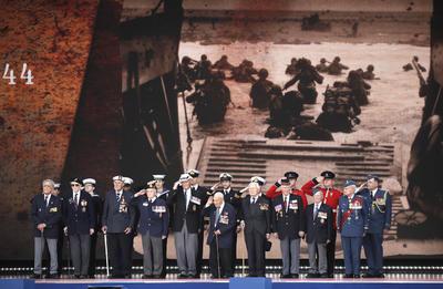 La ceremonia tuvo lugar en la gran explanada de césped del Southsea Common.