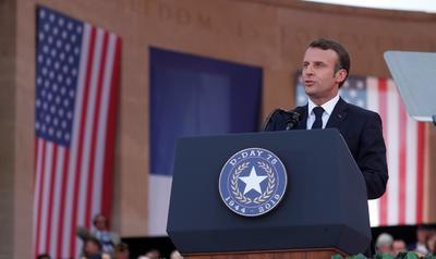 Macron también les dedicó algunas palabras.
