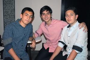 Adrián, Alejandro y Pablo