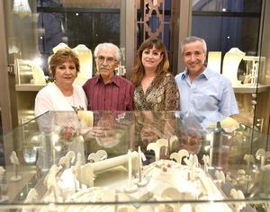 Soraya, Elías, Elizabeth y Alberto