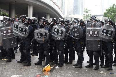 La protesta es contra la polémica ley de extradición.