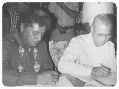 Sr. Pablo Rangel Rosales y Sr. Rubén Aguilar Vázquez, el 15 de noviembre de 1986.