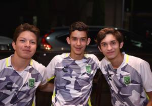 Emiliano, Salvador y Alejandro