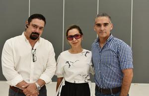 Luis Diz, Erika Obregón y Salvador Álvarez