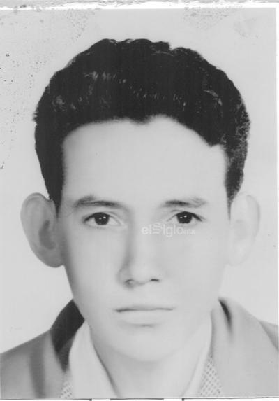 Leonel Rodríguez a la edad de 15 años radicando en El Mineral de Nueva Rosita, Coahuila.