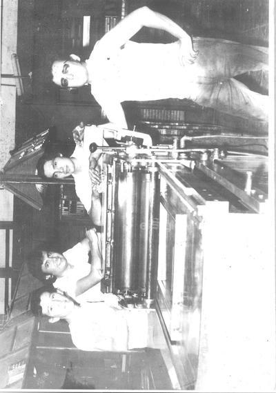 Ex trabajadores de El Siglo: Víctor Galindo, Daniel Maldonado, Rogelio Lozoya Frías y Carlos Garza Jr.