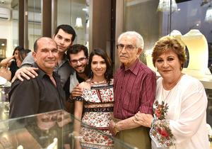 02062019 Soraya Mansur de Serhan, Elías Serhan Selim, Javier Serhan Mansur, Tamara Serhan Janbey, Jaafar Serhan Janbey y Elías Serhan Janbey.