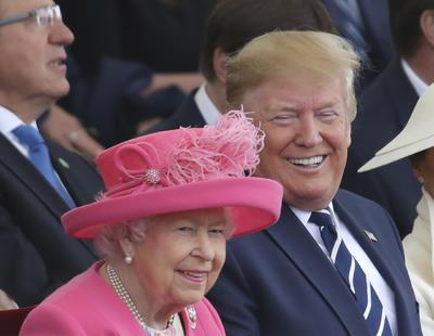 La reina Isabel II y el presidente Donald Trump.