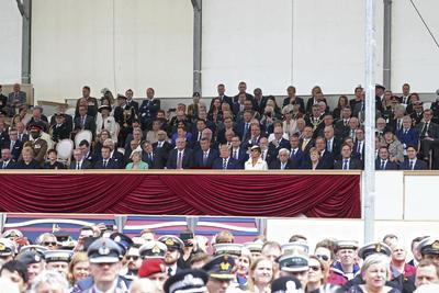 Asistieron la reina Isabel II y el presidente de Estados Unidos, Donald Trump.