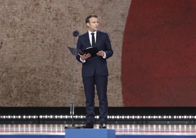 Habló el mandatario francés, Emmanuel Macron.