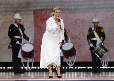 Sheridan Smith se presentó en el acto.