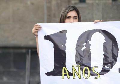 Se manifestaron a las afueras de Palacio Nacional.