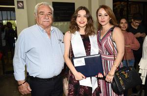 Rafael Revuelta, Paola Walls y Gabriela Revuelta