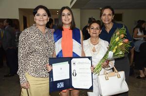 Rocío Vargas, Daniela Gutiérrez, Ángela Gutiérrez y Cristina Dorantes