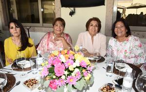 Rosario Espinoza, Margarita Vallejo, Roxana Ávalos y Cecy Ramírez