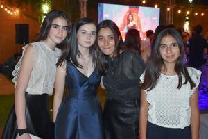 Valentina, Arantza, Sofía y Dany