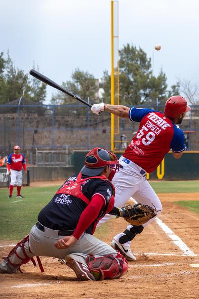 Arturo Rodríguez impulsó la primera carrera del inning con jonrón solitario por el izquierdo.