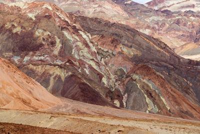 Paleta del Pintor, con distintas tonalidades debido a los diversos depósitos minerales.