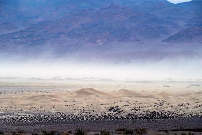 Las dunas Mesquite vistas desde el Cañón Mosaic.