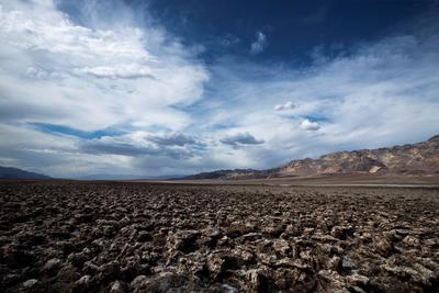 El ''Devil's Golf Course', un gran salitral que se encuentra Valle de la Muerte.