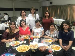 09062019 Festejando el Día del Contador en el CCPL: Chelita, Elsa, Gloria, Lupita, Lety, Ana, Xóchitl y Violeta.