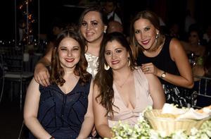 10062019 EN RECEPCIóN NUPCIAL.  Berenice Cepeda, Natalia Ferreira, Carolina Villarreal y Ana Lucía Flores.