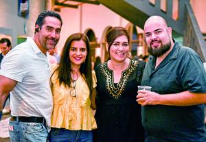 11062019 Rafael Bustos, Perla García, Claudia Bustos y Javier Cisneros.