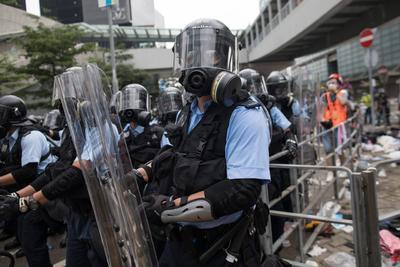 Forzaron a los manifestantes a abandonar el lugar.
