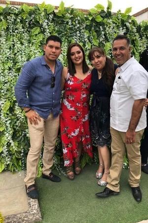 12062019 EN PAREJAS.  Dante Cárdenas, Aleida Valdez, Tania Cárdenas y Edmundo Díaz.